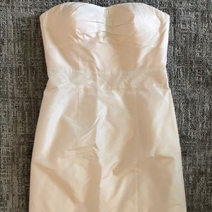 Strapless Silk Dress - Champagne